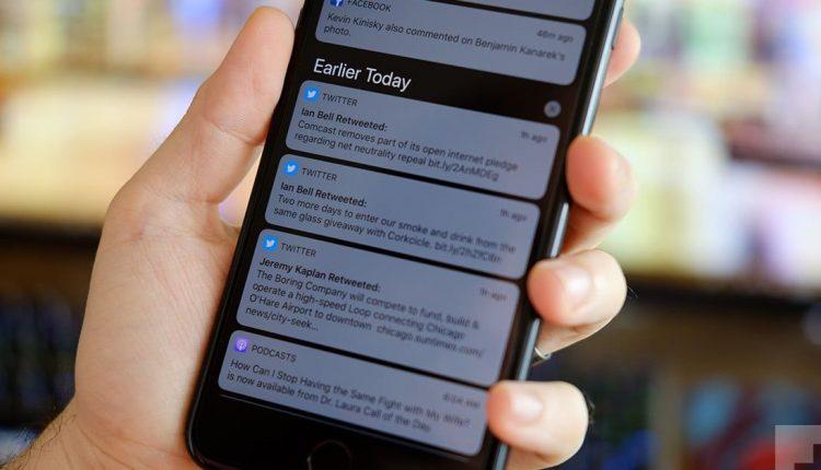 غیرفعال کردن اعلانهای توییتر، آیفون و آیپد